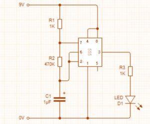Circuit of Flashing LED